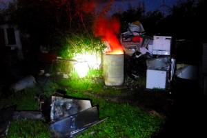 fot. SG: zatrzymany na gorącym uczynku wypalania odpadów