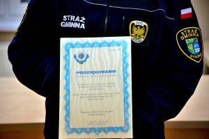 foto SG: podziękowania od TOZ dla SG w Dygowie